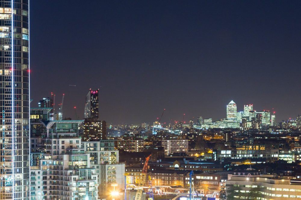 photo of london at night